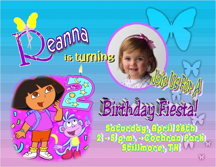 dora invitation template