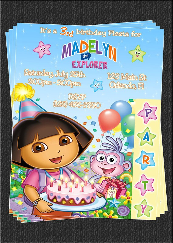 custom dora the explorer birthday party