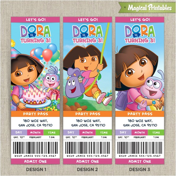 dora the explorer birthday tickets