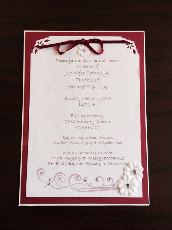 double matted bridal shower invitation