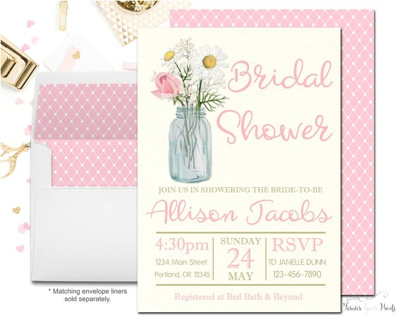 pink floral bridal shower invitation wedding