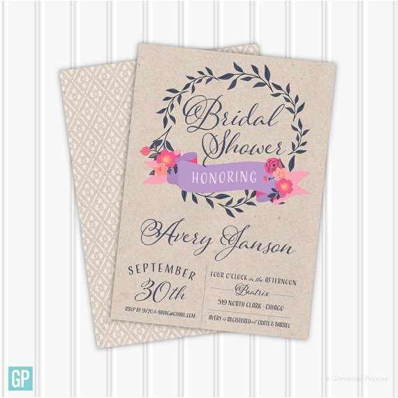the janson bridal shower invitation o