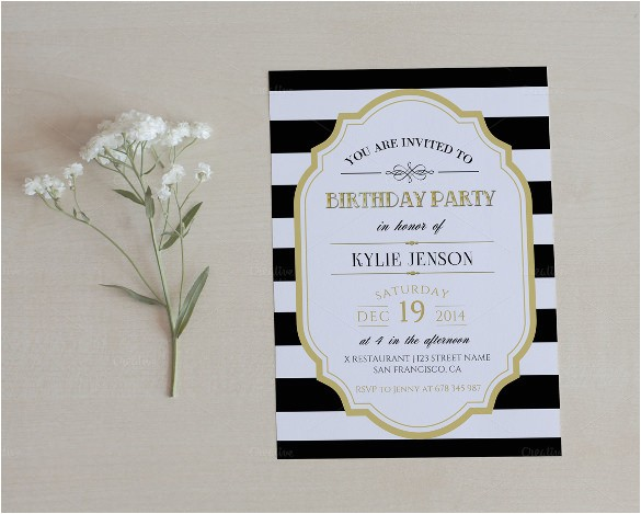 sample birthday invitation template