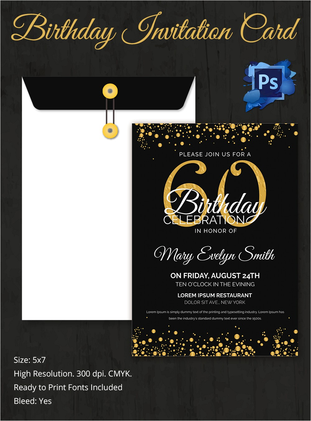 birthday celebration invitation templates