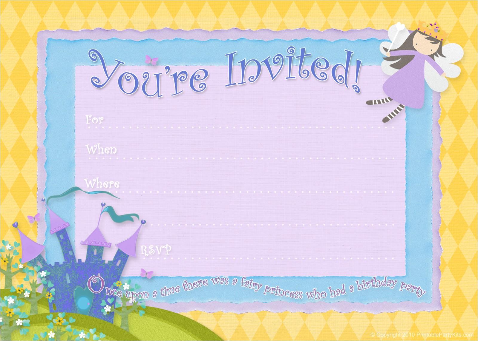 free birthday party invitations