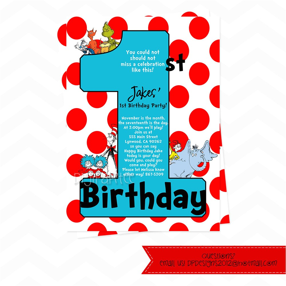 dr seuss invitations for 1st birthday