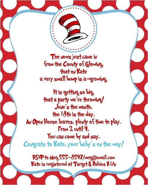 printable customized dr seuss baby shower invitations