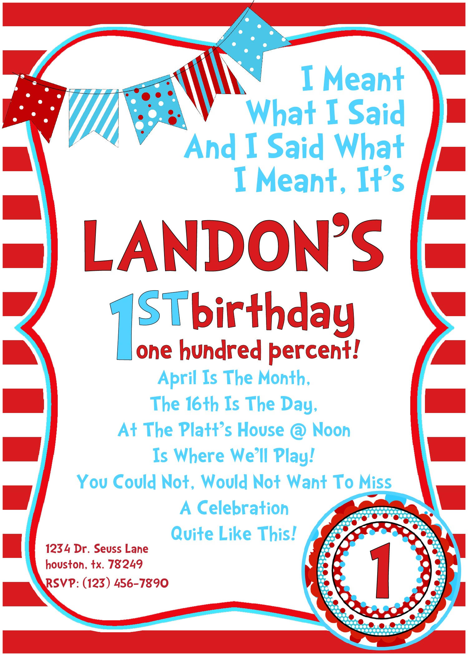 Dr Seuss Birthday Invitations Photo Dr Seuss Birthday Invitations Wording Drevio Invitations