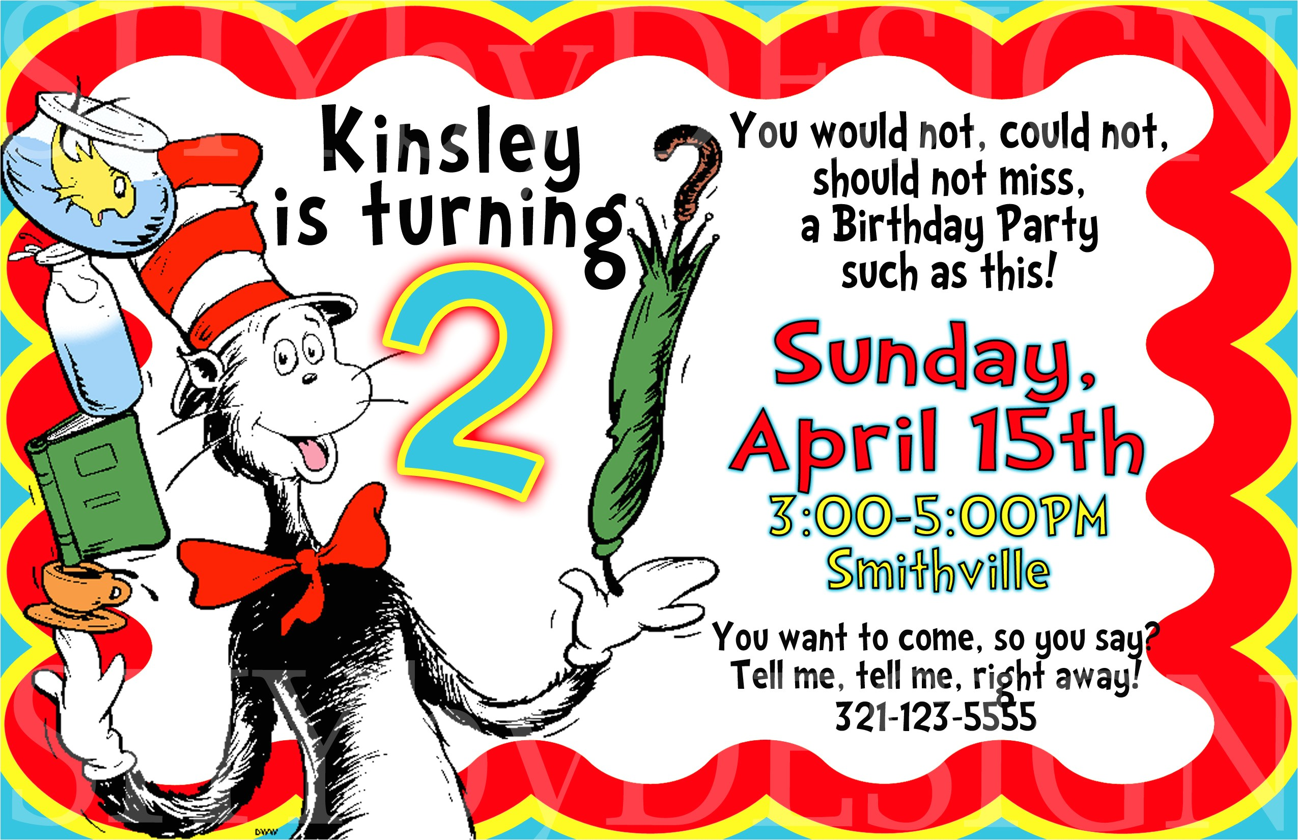 dr seuss party part 4 invitations extra details