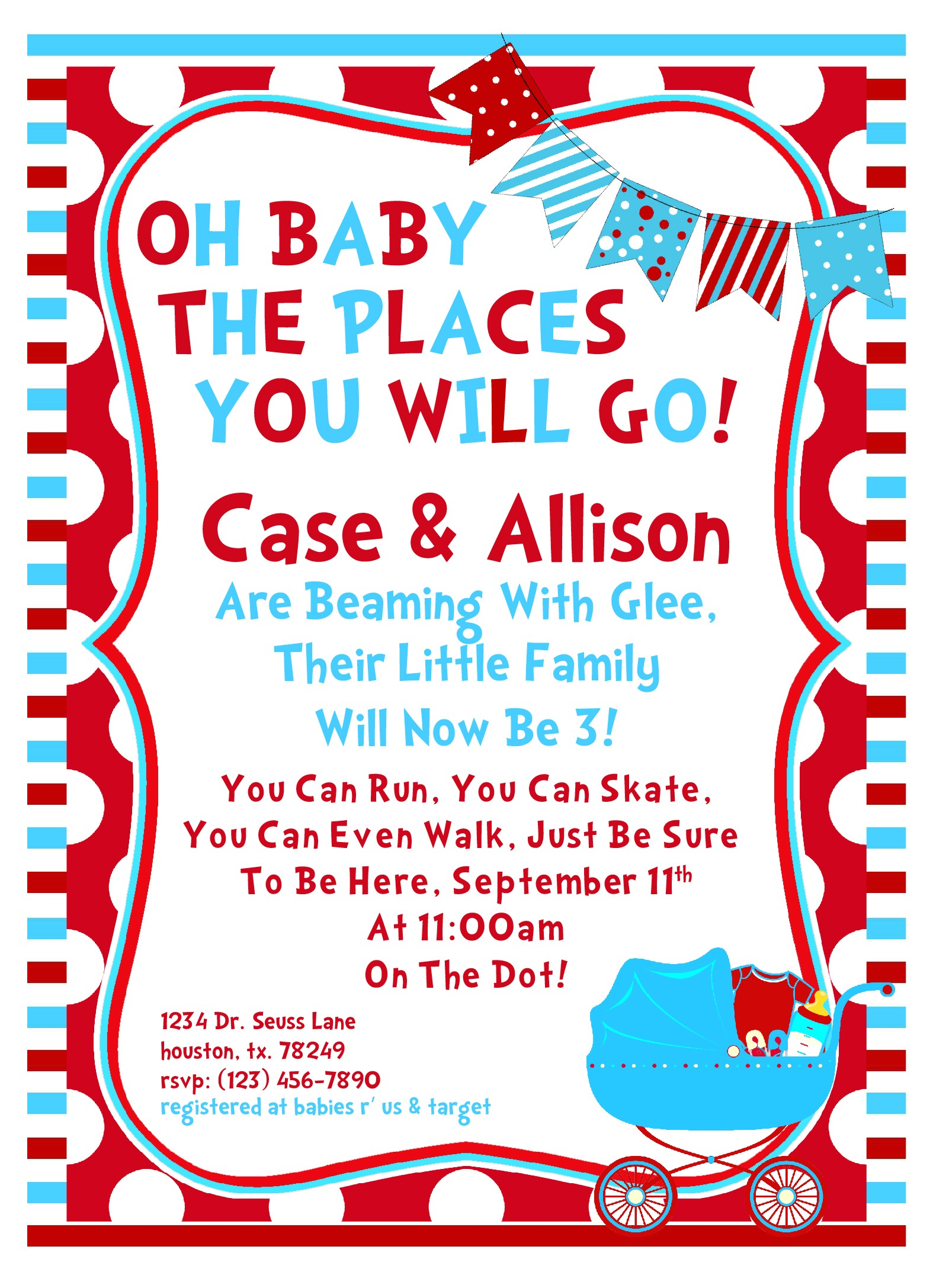 Dr Seuss themed Baby Shower Invitations 8 Best Of Free Printable Dr Seuss Baby Shower Dr