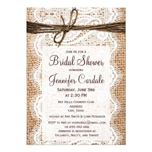 burlap bridal showers