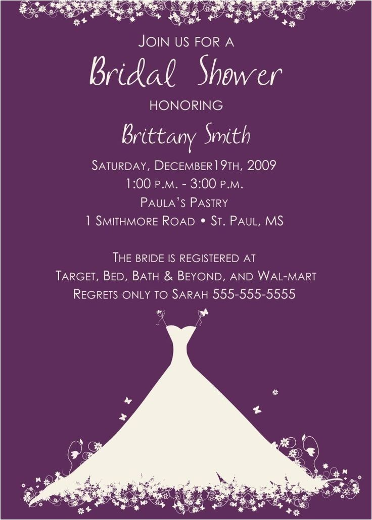 imposing wedding shower invitations wording 2