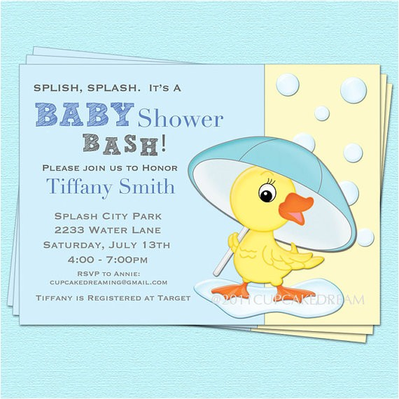 duck baby shower invitation baby boy