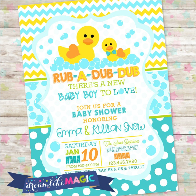 rub a dub dub baby shower baby boy