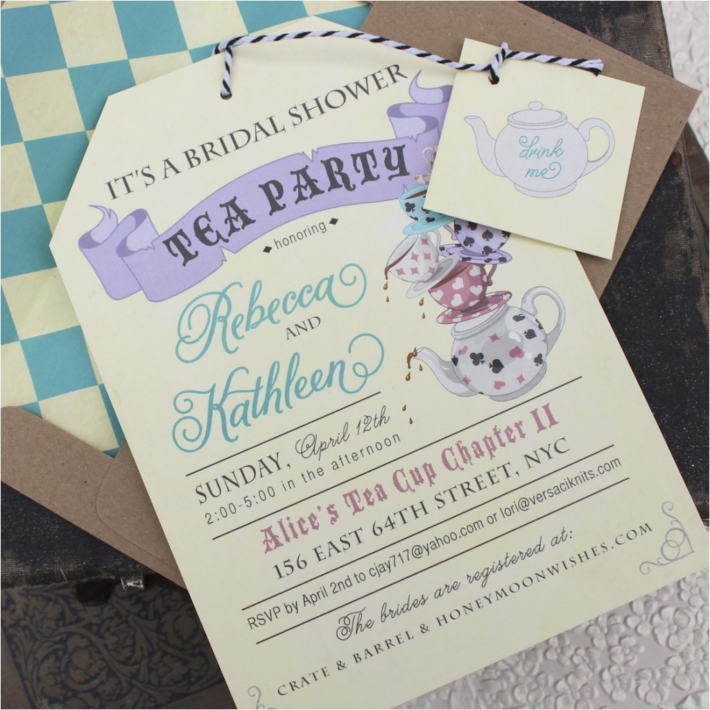 best bridal shower tea party invitations printable