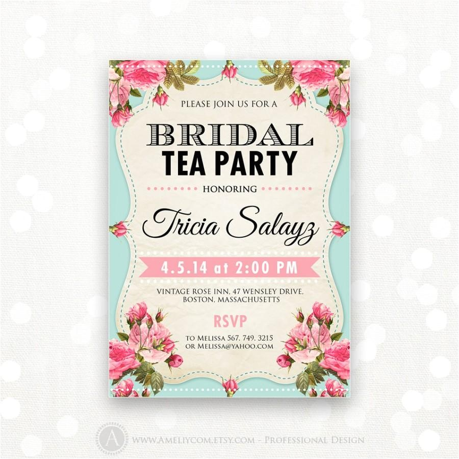 how to select the tea party bridal shower invitations designs