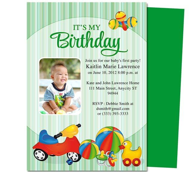 printable 1st first birthday invitations templates