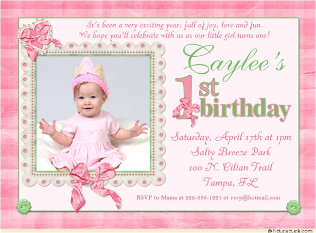 1st birthday invitations for baby girl 2