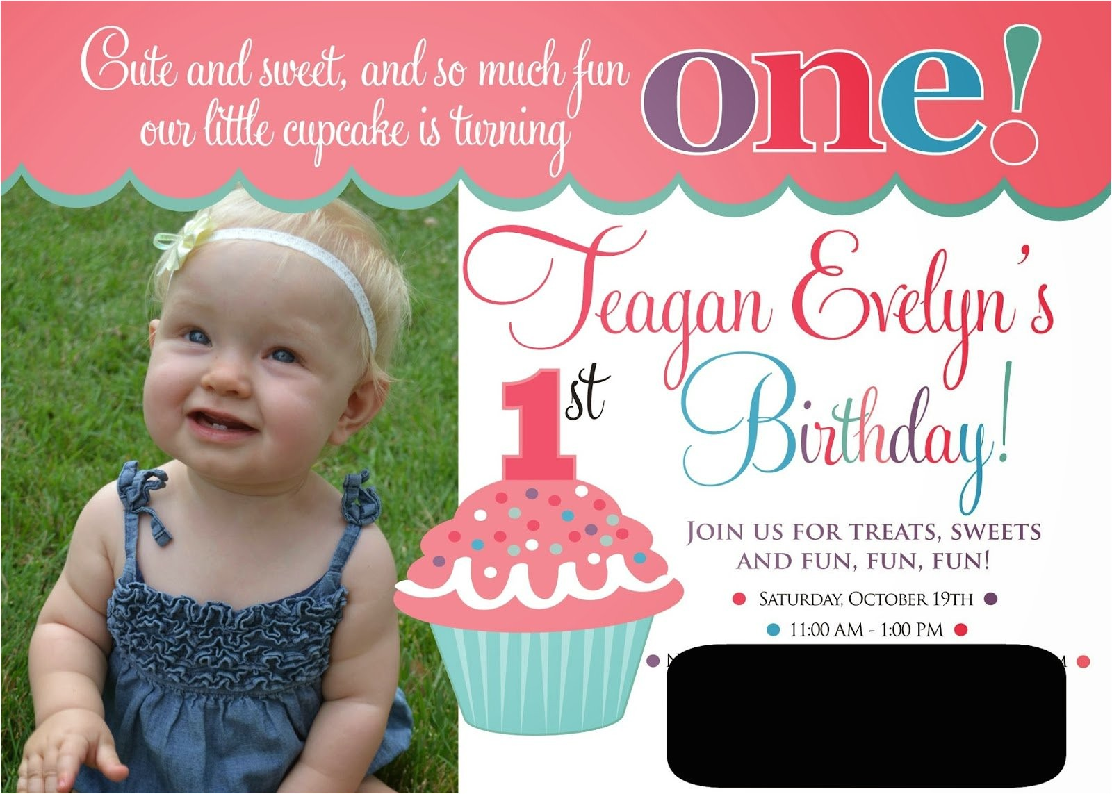e invitations for 1st birthday