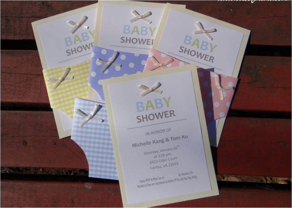 new diy baby shower invitations easy
