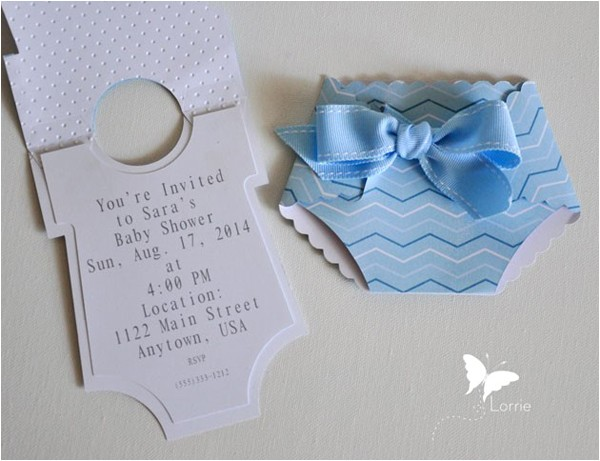 easy baby shower invitations to make