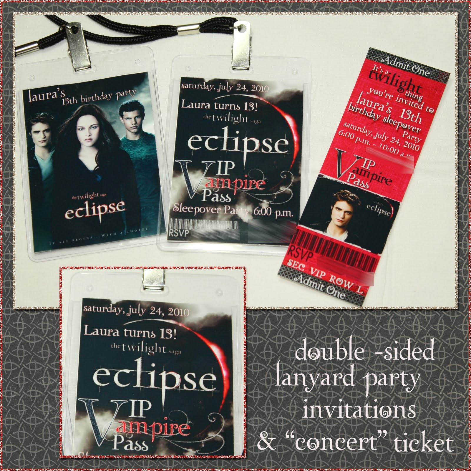 twilight eclipse lanyard birthday