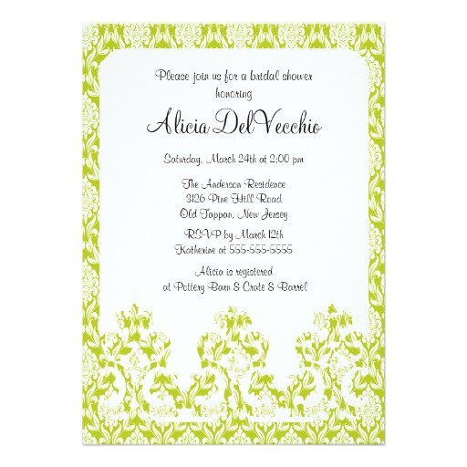 bridal shower invitations eco friendly