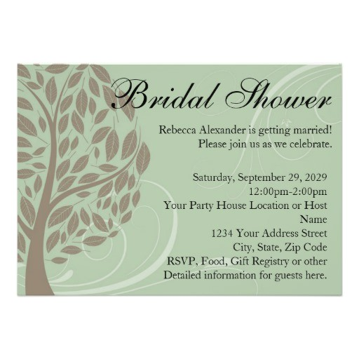 bridal shower invitations recycled paper