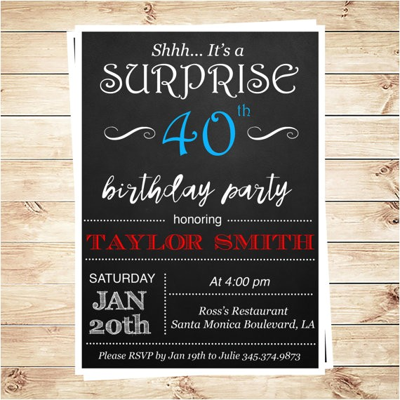printable surprise 30th birthday party