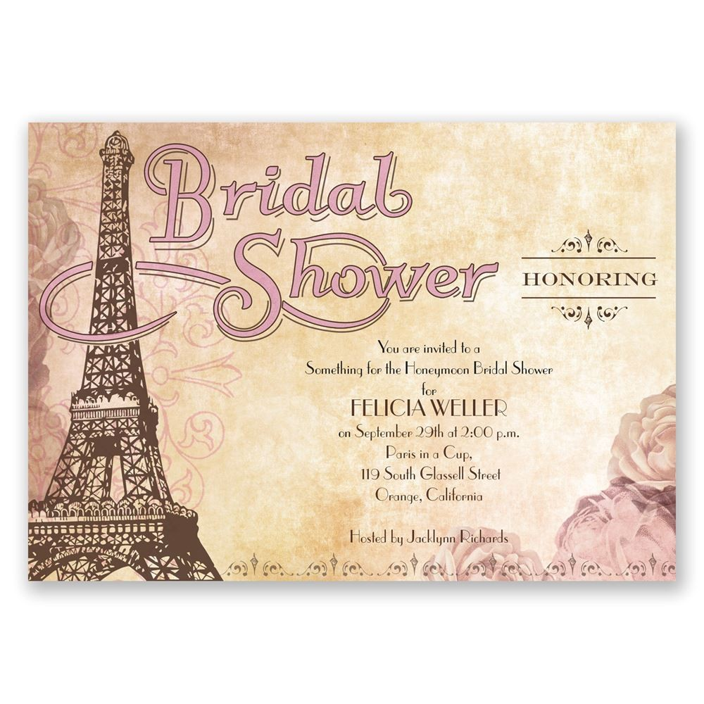 Eiffel tower Bridal Shower Invitations Eiffel tower Bridal Shower Invitation Invitations by Dawn
