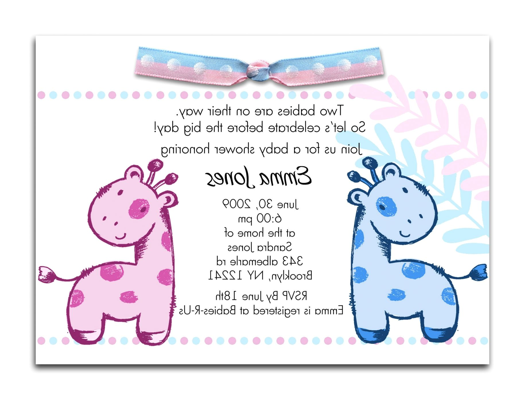 electronic baby shower invites