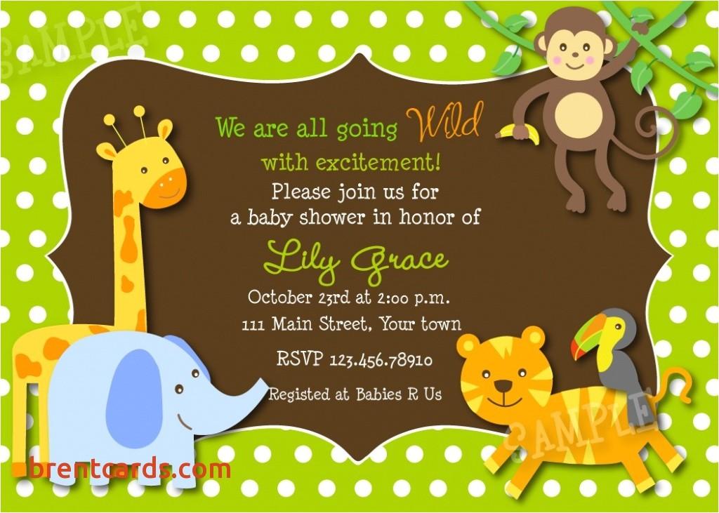 electronic baby shower invites safari jungle animals baby shower invitations