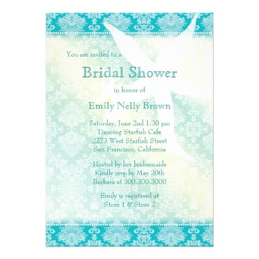 bridal shower invitations starfish