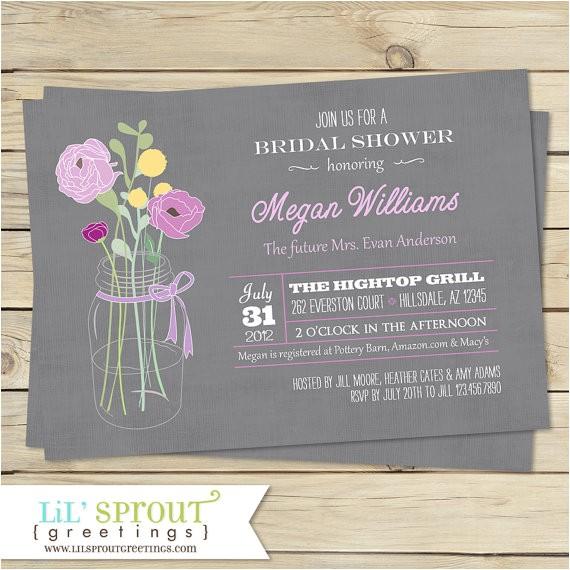 vintage bouquet bridal shower invitation color