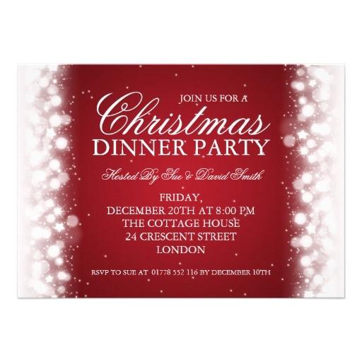magic of christmas invitations