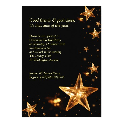 elegant christmas cocktail party invitation 161955366400033325