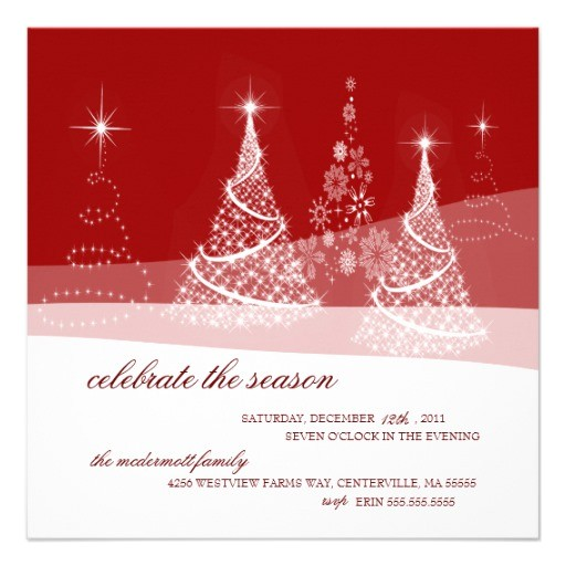 elegant red white holiday christmas party invitation 161226583001203645