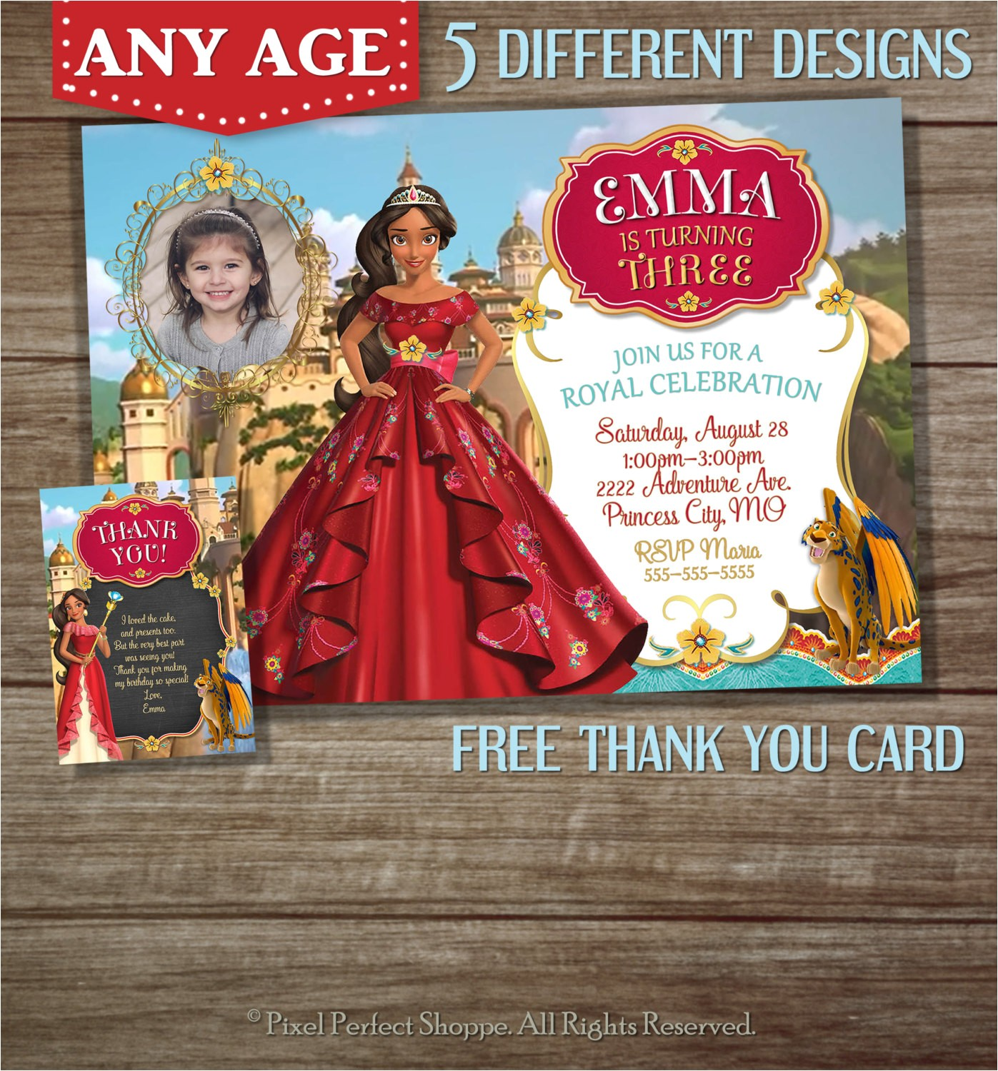 elena of avalor invitation elena