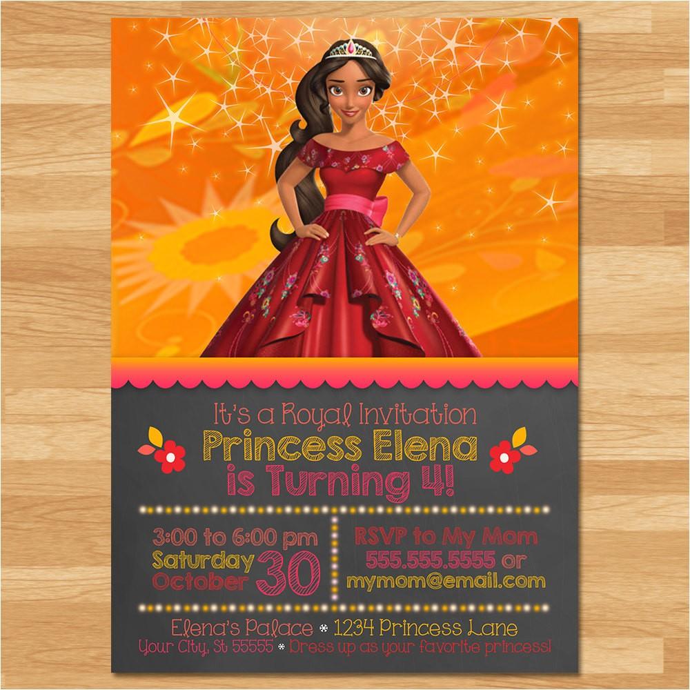 elena of avalor invitation chalkboard