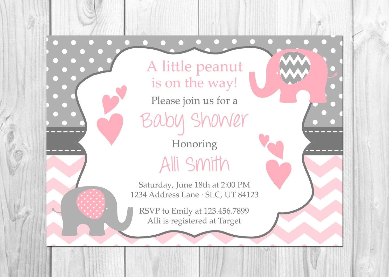 Elephant Baby Shower Invitations for Girls Pink and Grey Elephant Baby Shower Invitation It S A Girl