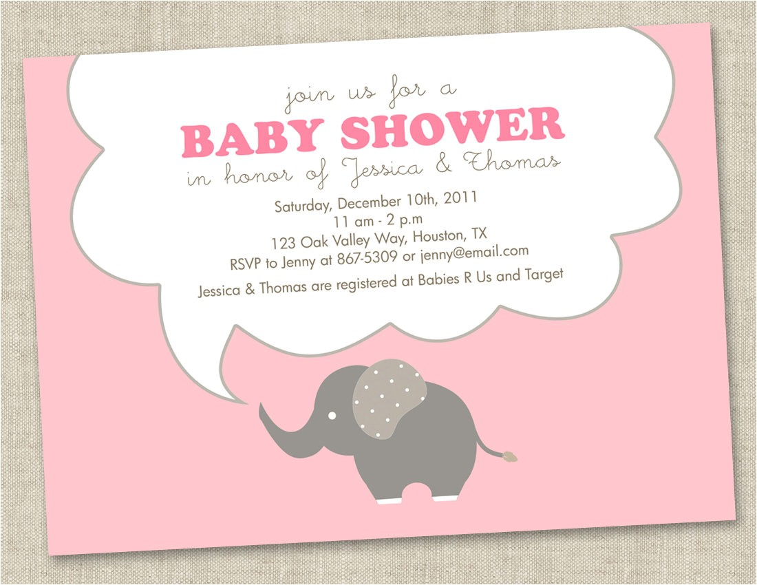 elephant baby shower invitations baby
