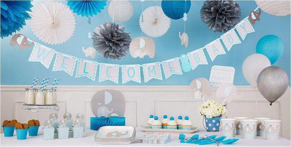 blue baby elephant baby shower decorations navSet=