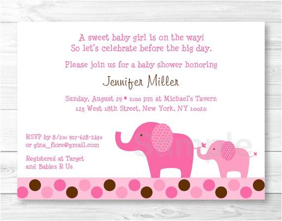 vistaprint elephant baby shower invitations
