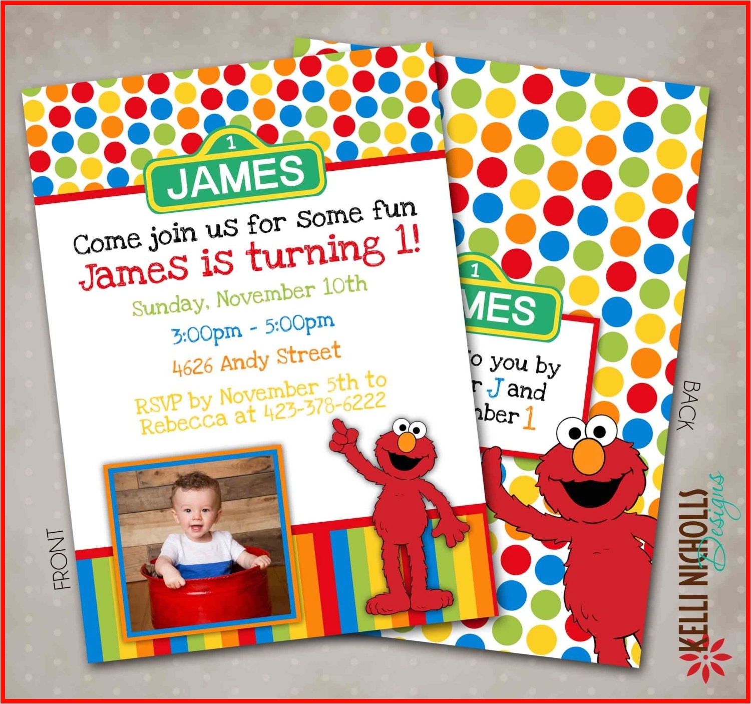 elmo birthday invitation template
