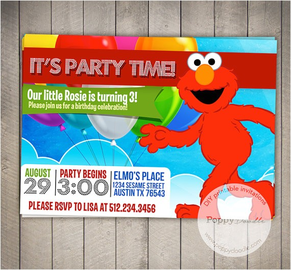 elmo custom printable birthday