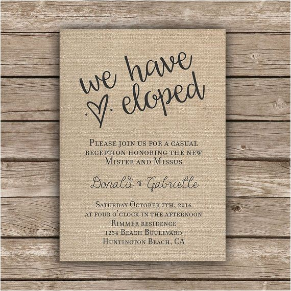 elopement reception
