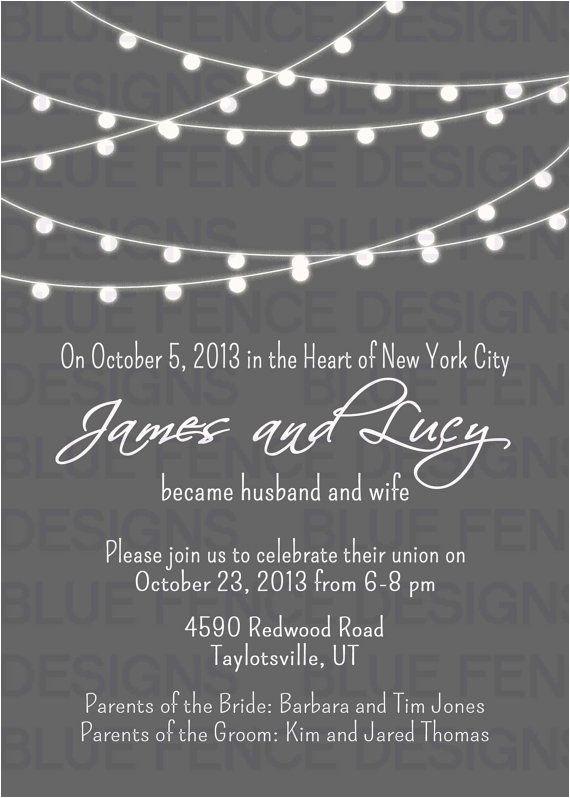 post reception invitations