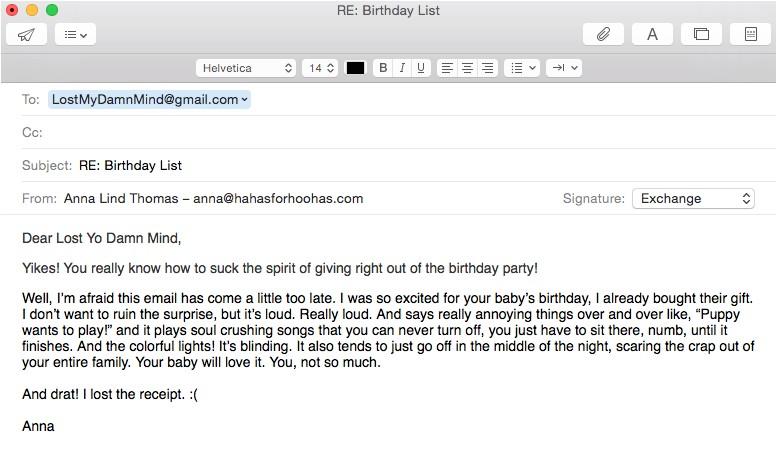 email birthday invitations