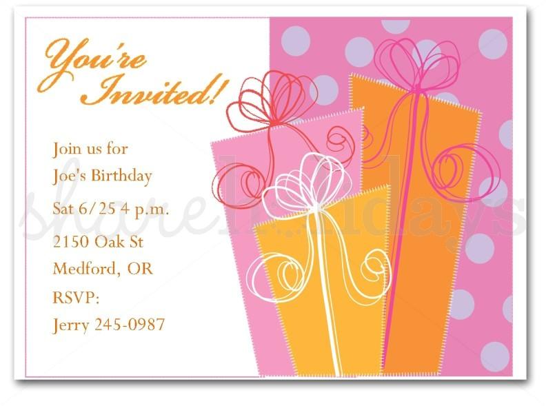 free printable birthday invitation