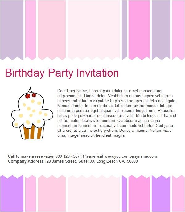 email birthday invitations templates wording